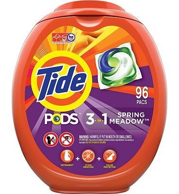 Purchase Tide PODS Laundry Detergent Liquid Pacs, Spring Meadow Scent, HE Compatible, 96 Count per pack, 77 Oz at Amazon.com
