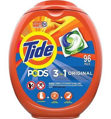 Purchase Tide PODS Laundry Detergent Liquid Pacs, Original Scent, HE Compatible, 96 Count at Amazon.com
