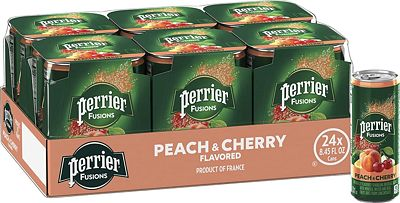 Purchase Perrier & Juice, Peach and Cherry Flavor, 8.45 Fl Oz. Cans (24 Count) at Amazon.com
