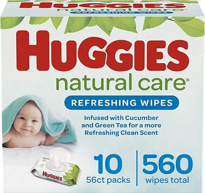 Purchase HUGGIES Refreshing Clean Scented Baby Wipes, Hypoallergenic, 10 Flip-top Packs, 56 Ct Each (560 Total Wipes) at Amazon.com