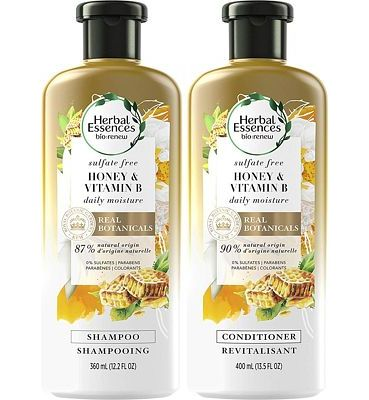 Purchase Herbal Essences, Sulfate Free Shampoo and Conditioner Kit With Natural Source Ingredients, BioRenew Honey & Vitamin B, Color Safe, 13.5 & 12.2 fl oz, Kit at Amazon.com