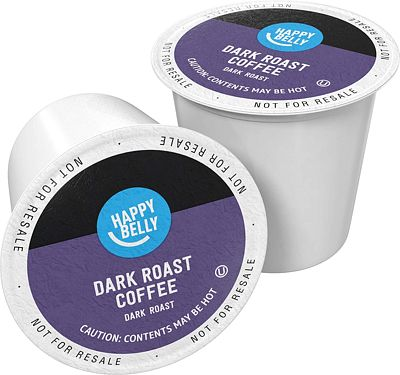 Purchase Amazon Brand - 100 Ct. Happy Belly Dark Roast Coffee Pods, Compatible with Keurig 2.0 K-Cup Brewers at Amazon.com