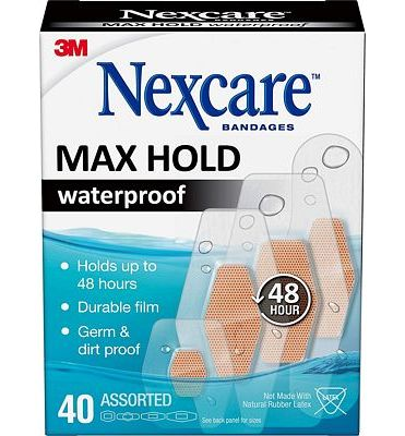 Purchase Nexcare Max Hold Waterproof Bandages, Stays On Up to 48 Hours, 40 Count, Assorted Sizes at Amazon.com
