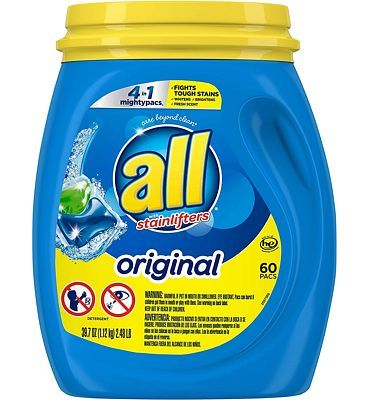 Purchase All Mighty Pacs Laundry Detergent 4 in 1 Stainlifter, Tub, 60 Count at Amazon.com