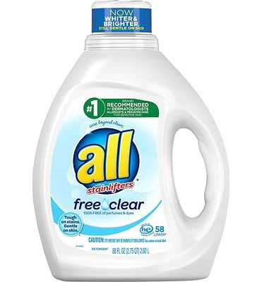 Purchase All Liquid Laundry Detergent, Free Clear for Sensitive Skin, 58 Loads, 88 Fluid Ounce at Amazon.com