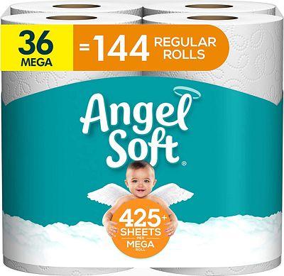 Purchase Angel Soft Toilet Paper, 36 Mega Rolls, 36 = 144 Regular Rolls, Bath Tissue, 4 Packs of 9 Rolls at Amazon.com