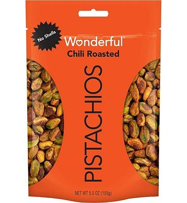 Purchase Wonderful Pistachios, No Shells, Chili Roasted, 5.5 Ounce Resealable Pouch at Amazon.com