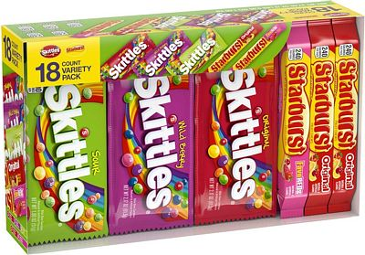 Purchase SKITTLES & STARBURST Candy Full Size Variety Mix 37.05-Ounce 18-Count Box at Amazon.com