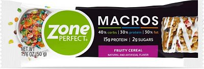 Purchase Zone Perfect Macros Protein Bars, Fruity Cereal, 20 Count at Amazon.com