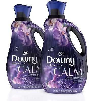 Purchase Downy Infusions Liquid Fabric Softener Lavender & Vanilla Bean, 56 Oz Bottles, 166 Loads Total (Pack of 2) at Amazon.com