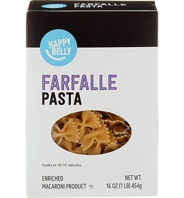 Purchase Amazon Brand - Happy Belly Pasta, Farfalle, 16 Ounce at Amazon.com