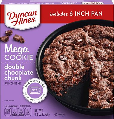 Purchase Duncan Hines Mega Cookie Double Chocolate Chunk Pan Cookie Mix, 8.4 OZ at Amazon.com