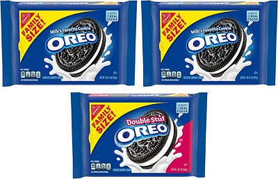 Purchase OREO Original & OREO Double Stuf Chocolate Sandwich Cookie Family Size, 3 Packs at Amazon.com