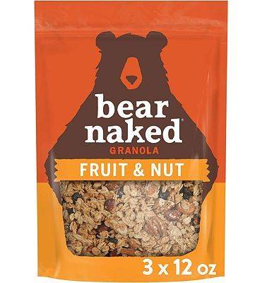 Purchase Bear Naked Fruit & Nut Granola - Non-GMO Project Verified, Kosher Pareve, Vegetarian Breakfast Cereal - 12oz Bag (3 Pack) at Amazon.com