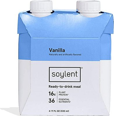 Purchase Soylent Vanilla Plant Protein Meal Replacement Shake, 11 Oz, Pack of 4 at Amazon.com