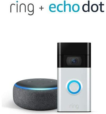 Purchase All-new Ring Video Doorbell, Satin Nickel (2020 release) with Echo Dot at Amazon.com