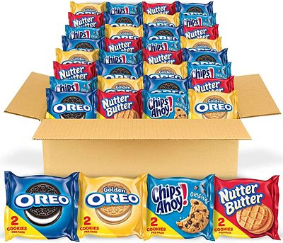 Purchase OREO Original, OREO Golden, CHIPS AHOY! & Nutter Butter Cookie Snacks Variety Pack, 56 Snack Packs (2 Cookies Per Pack) at Amazon.com