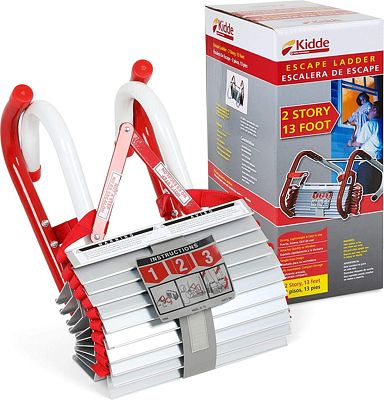 Purchase Kidde 468093 KL-2S Two-Story Fire Escape Ladder with Anti-Slip Rungs, 13-Foot at Amazon.com