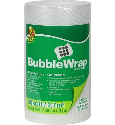 Purchase Duck Brand Bubble Wrap Original Protective Packaging, 12 Inches Wide x 30-Feet Long at Amazon.com