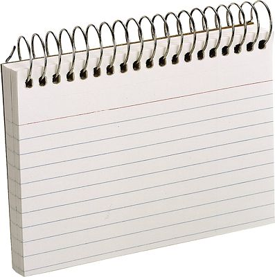 Purchase Oxford Spiral Ruled Index Cards, 3 x 5 Inches, White, 50 per pack at Amazon.com