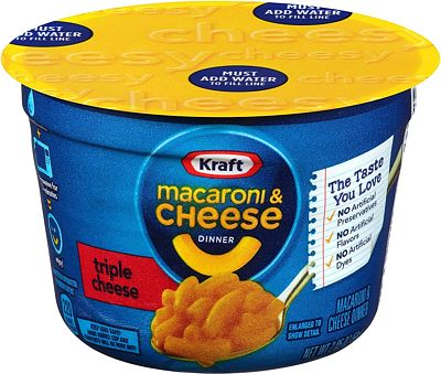 Purchase Kraft Easy Mac Triple Cheese Microwavable Cup (2.05 oz Cups, Pack of 10) at Amazon.com