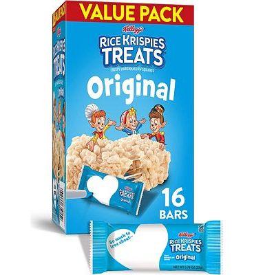 Purchase Kelloggs Rice Krispies Treats, Crispy Marshmallow Squares, Original, Bulk Size, 96 Count (Pack of 6, 12.4 oz Boxes) at Amazon.com