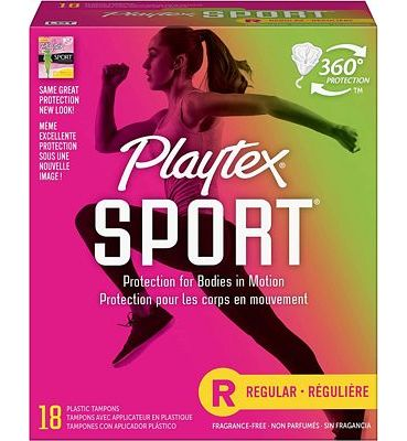 Purchase Playtex Sport Tampons with Flex-Fit Technology, Regular, Unscented - 18 Count at Amazon.com