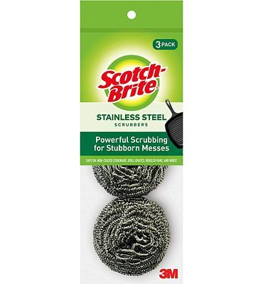 Purchase Scotch-Brite Stainless Steel Scrubbers, 3 Pack at Amazon.com