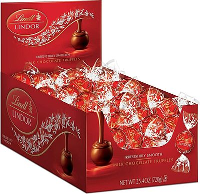 Purchase Lindt LINDOR Milk Chocolate Truffles, 60 Count Box, 25.4 Ounce at Amazon.com