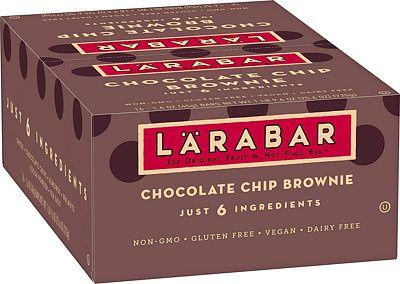 Purchase Larabar Gluten Free Bar, Chocolate Chip Brownie, 1.6 oz Bars (16 Count), Whole Food Gluten Free Bars, Dairy Free Snacks at Amazon.com