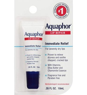 Purchase Aquaphor Lip Repair Ointment - Long-Lasting Moisture to Soothe Dry Chapped Lips at Amazon.com