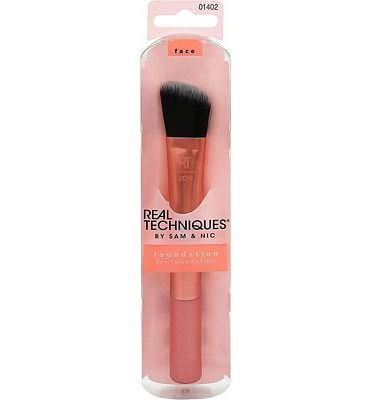 Purchase Real Techniques Cruelty Free Foundation Brush, Uniquely Shaped & Color Coded at Amazon.com