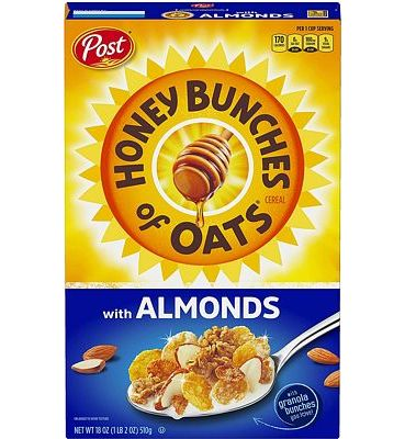 Purchase Post Honey Bunches of Oats with Crispy Almonds, Whole Grain, Low Fat Breakfast Cereal 18 oz. Box at Amazon.com
