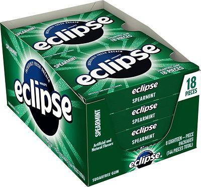 Purchase Eclipse Spearmint Sugarfree Gum, 18 Piece (Pack of 8) at Amazon.com