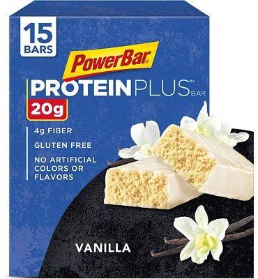 Purchase PowerBar Protein Plus Bar, Vanilla, 2.11 Ounce (15 Bars) at Amazon.com