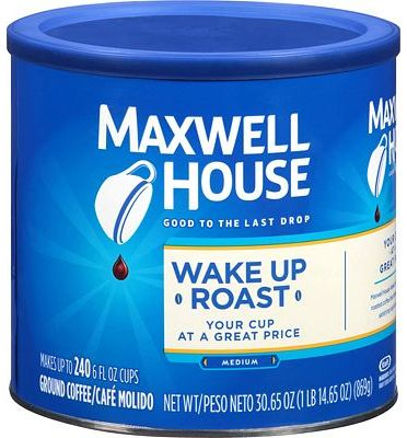 Purchase Maxwell House Wake Up Blend Mild Roast Ground Coffee (30.65 oz Tin) at Amazon.com