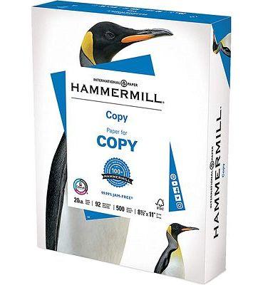 Purchase Hammermill 20lb Copy Paper, 8.5 x 11, 1 Ream, 500 Total Sheets, Multipurpose Printer Paper at Amazon.com