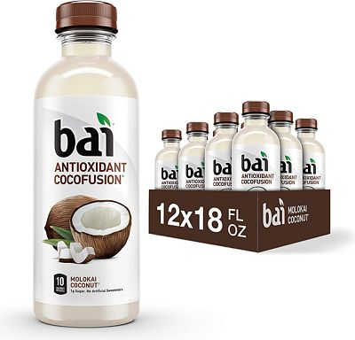 Purchase Bai Coconut Flavored Water, Molokai Coconut, Antioxidant Infused Drinks, 18 Fluid Ounce Bottles, 12 count at Amazon.com