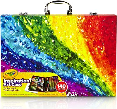 Purchase Crayola 140 Count Art Set, Rainbow Inspiration Art Case, Gifts for Kids, Age 4, 5, 6 at Amazon.com