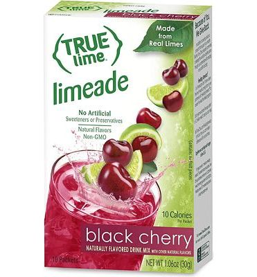 Purchase True Lime Limeade Stick Pack, Black Cherry, 10 Count (1.06oz) at Amazon.com