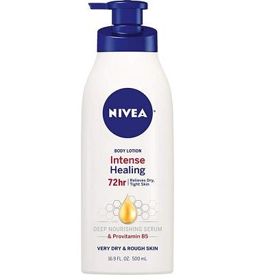 Purchase NIVEA Intense Healing Body Lotion - 72 Hour Moisture For Dry to Very Dry Skin - 16.9 fl. oz. Pump Bottle at Amazon.com