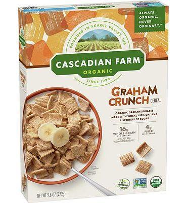 Purchase Cascadian Farm Organic Graham Crunch Cereal 9.6 oz Box at Amazon.com