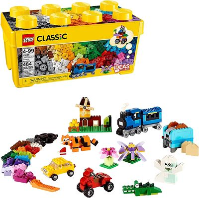 Purchase LEGO Classic Medium Creative Brick Box 10696 Building Toys for Creative Play; Kids Creative Kit (484 Pieces) at Amazon.com