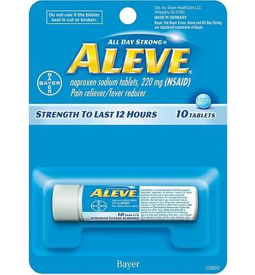 Purchase Aleve Tablets with Naproxen Sodium, 220mg (NSAID) Pain Reliever/Fever Reducer, 10 Count at Amazon.com