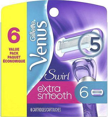 Purchase Gillette Venus Extra Smooth Swirl Women's Razor Blade Refills, 6 Count at Amazon.com