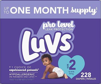 Purchase Luvs Pro Level Leak Protection Diapers Size 2 228 Count at Amazon.com