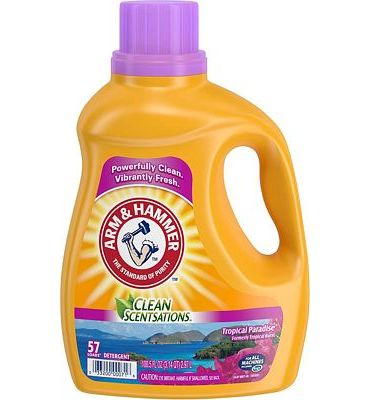 Purchase Arm & Hammer Clean Scentsations Tropical Paradise Liquid Laundry Detergent, 57 loads at Amazon.com