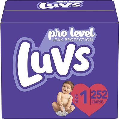 Purchase Diapers Newborn/Size 1 (8-14 lb), 252 Count - Luvs Ultra Leakguards Disposable Baby Diapers, ONE MONTH SUPPLY at Amazon.com
