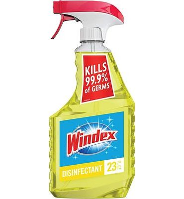 Purchase Windex Multi-Surface Cleaner and Disinfectant Spray Bottle, Citrus Fresh Scent, 23 fl oz at Amazon.com