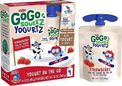 Purchase GoGo squeeZ yogurtZ, Strawberry, 3 Ounce (4 Pouches), Low Fat Yogurt, Gluten Free, Pantry-friendly, Recloseable, BPA Free Pouches at Amazon.com